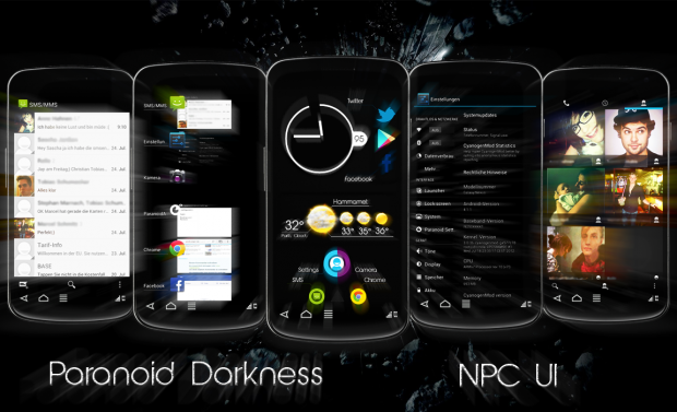 Warp le personalizzazioni della rom paranoid android root - Rubrica android colori diversi ...