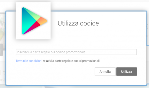 Carte regalo di Google Play in arrivo in Italia