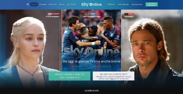 Sky Online lancio header