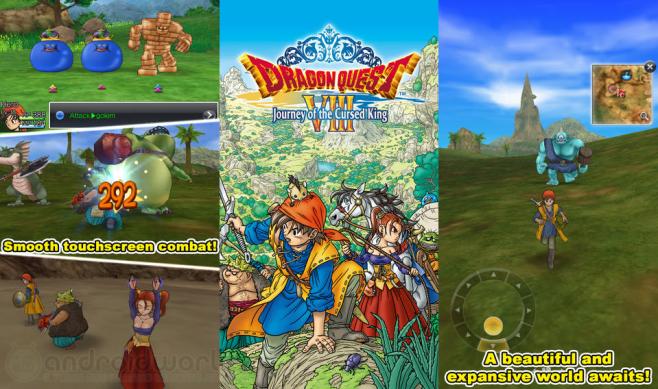 Dragon Quest VIII arriva su Android anche in Europa