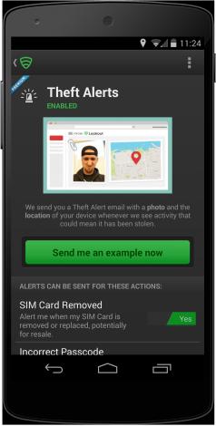 Theft alert