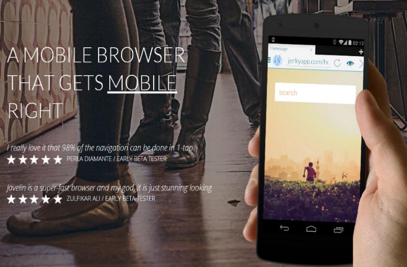Javelin Browser sfida Link Bubble con il suo ultimo aggiornamento (foto)
