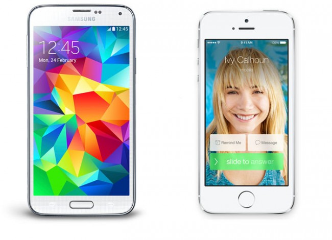 Samsung Galaxy S5 Apple iPhone 5S