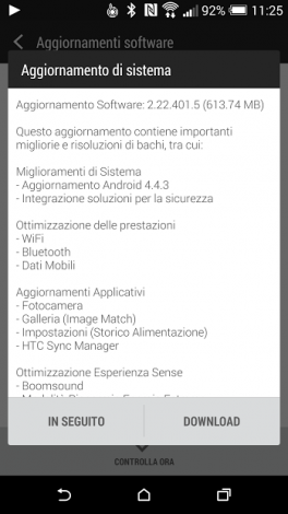HTC M8 android 4.4.3