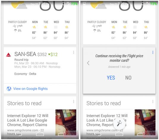 google now card prezzi aerei