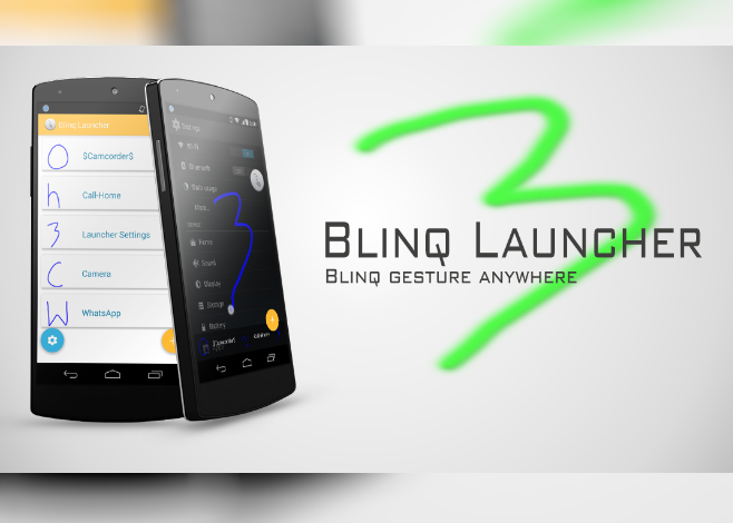 blinq_launcher_android l e gesture