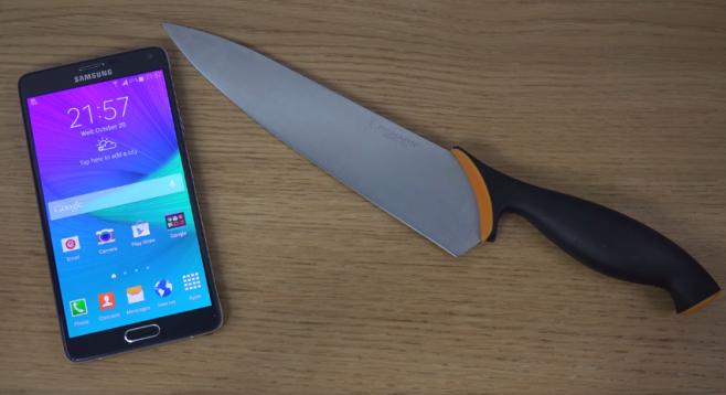 Note 4 coltello