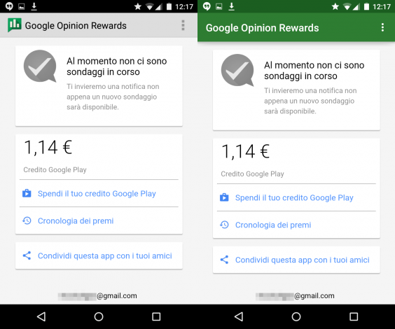 Google Opinion Rewards Material Design