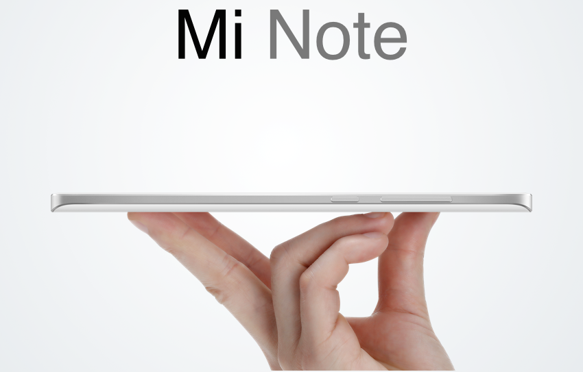 Xiaomi Mi Note official render - 2
