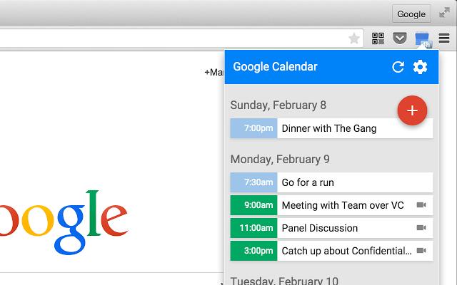 google calendar material design chrome
