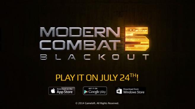 Modern Combat 5 Trailer Lancio